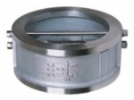 Wafer type dual plate check valve